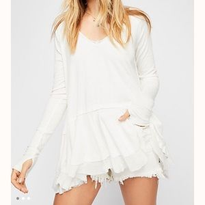 We the free free people tangerine tee tunic white